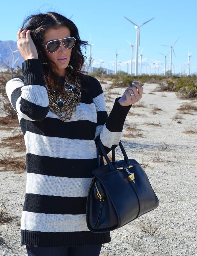 Black White Stripe Sweater