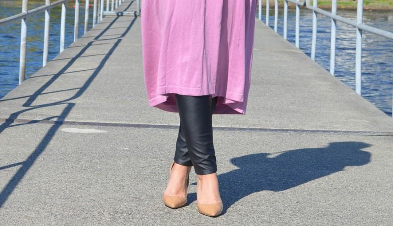 ASOS Longline Oversize Cardigan Pink-7