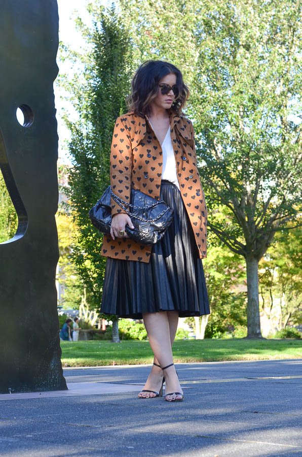 Heart Print Trench-1