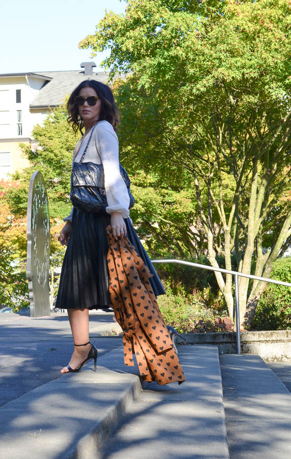 Heart Print Trench-6