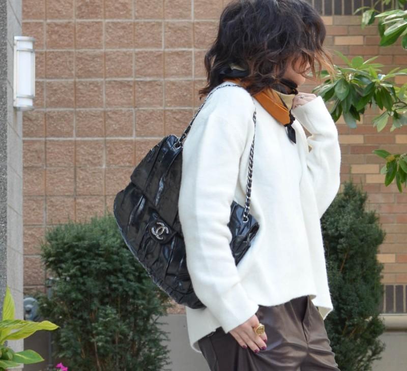 Zara Leather Trouser in Wine-13