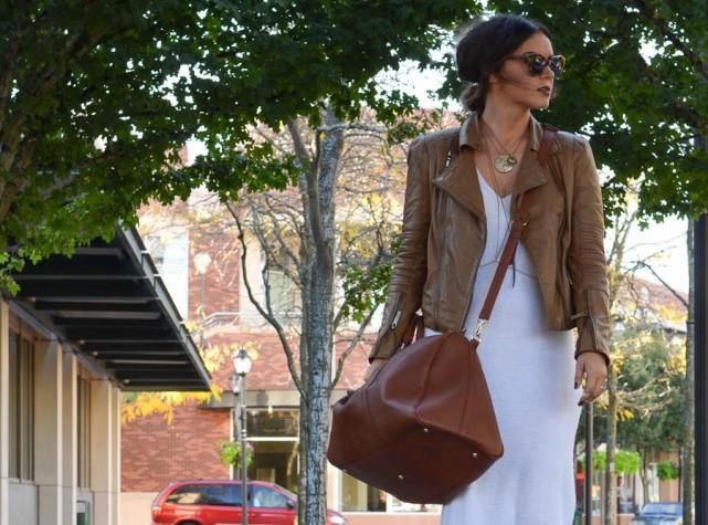 ASOS Knit Sweater Dress White-12