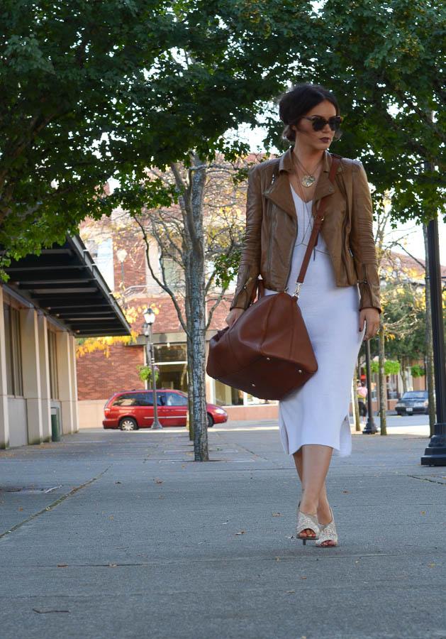 ASOS Knit Sweater Dress White-13