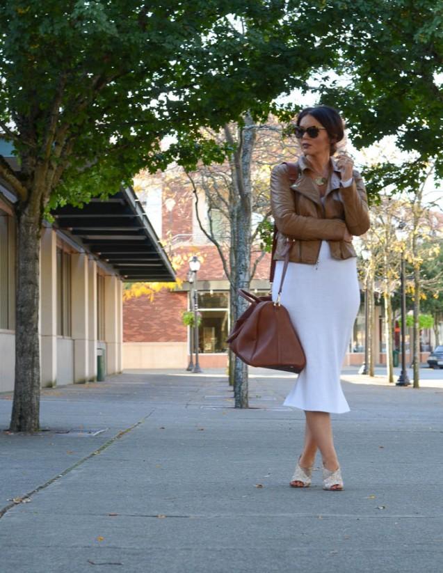 ASOS Knit Sweater Dress White-14