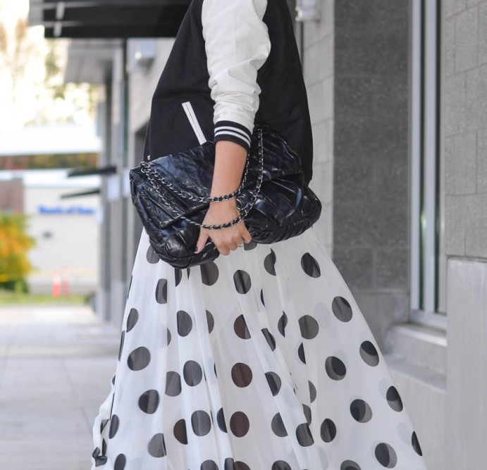 Jolly Chic Polka Dot Chiffon Maxi Skirt-12