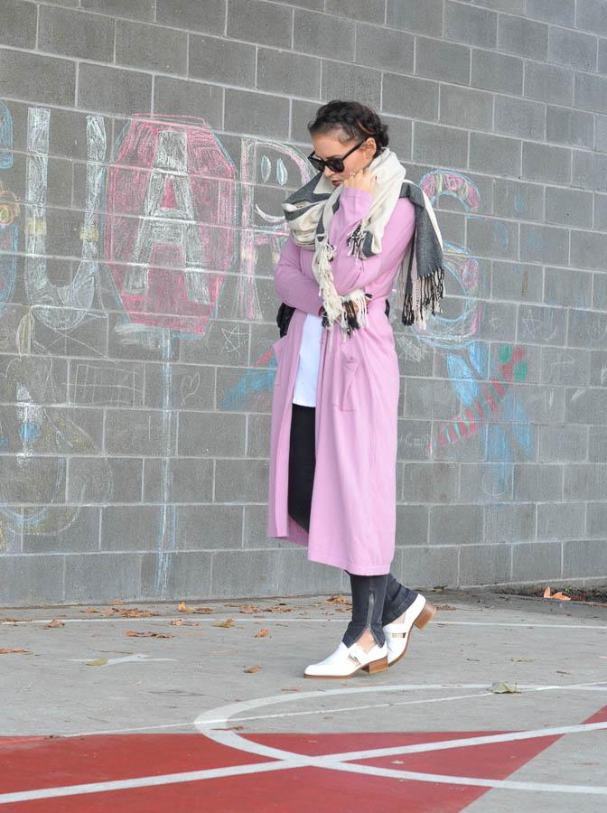 ASOS Longline Duster Cardigan in Pink-8
