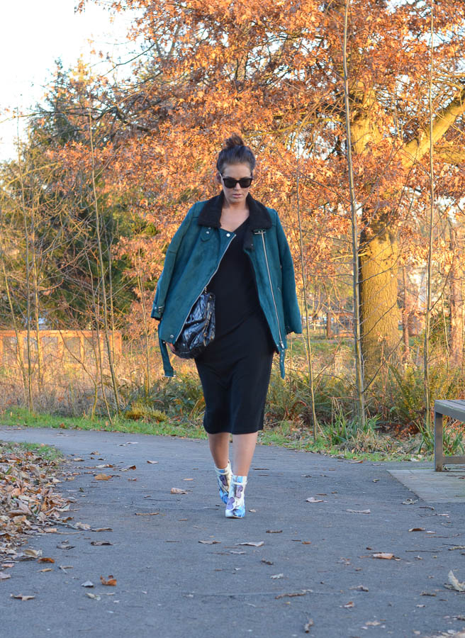 Forever 21 Faux Suede Aviator Jacket-3