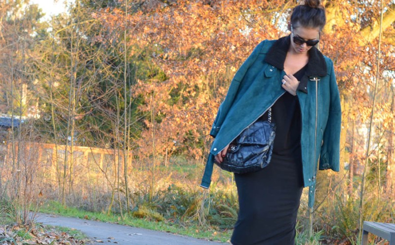 Forever 21 Faux Suede Aviator Jacket-4