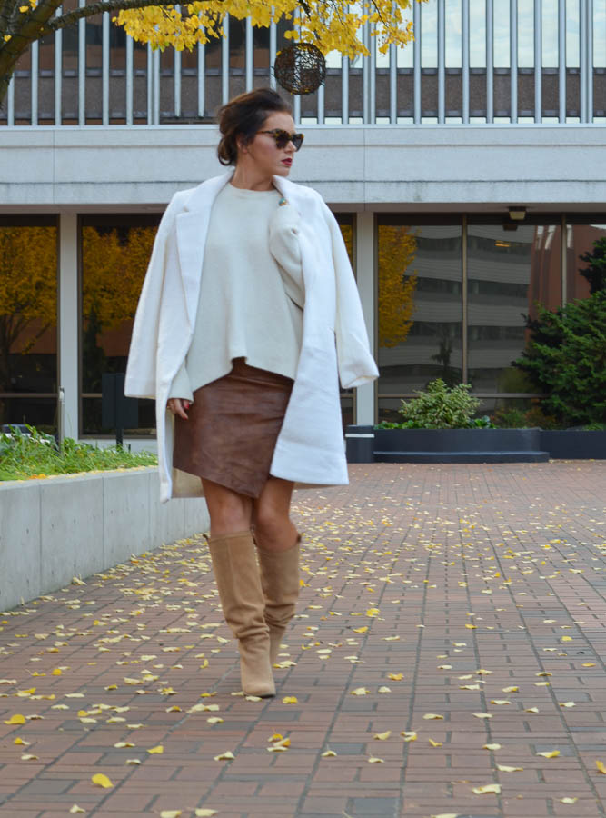 H&M Faux Leather Wrap Skirt-11