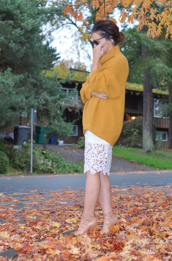 Lace Pencil Skirt-7