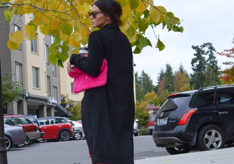 New Look Fur Foldover Clutch-12