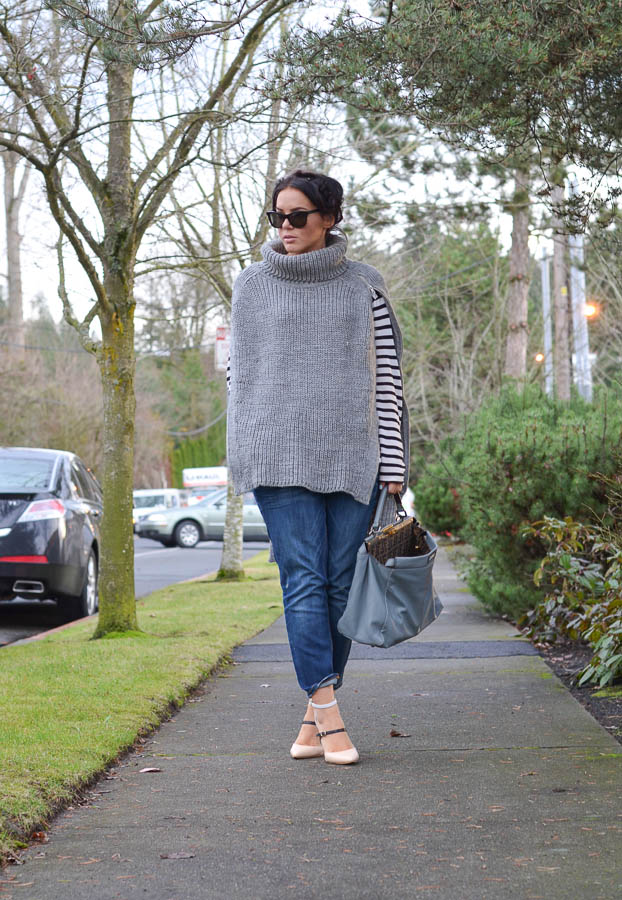 ASOS Cape with Roll Neck-1