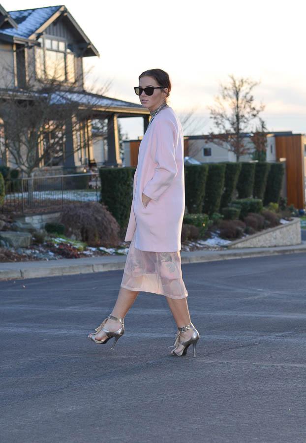 ASOS SALON Midi Skirt in Floral Organza-1