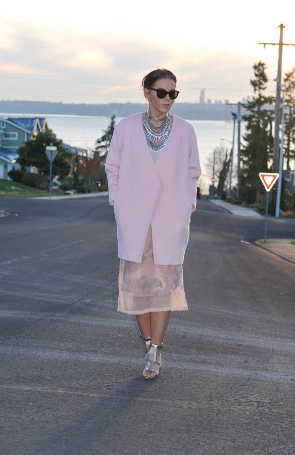 ASOS SALON Midi Skirt in Floral Organza-11