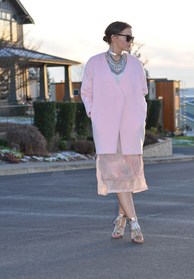 ASOS SALON Midi Skirt in Floral Organza-3