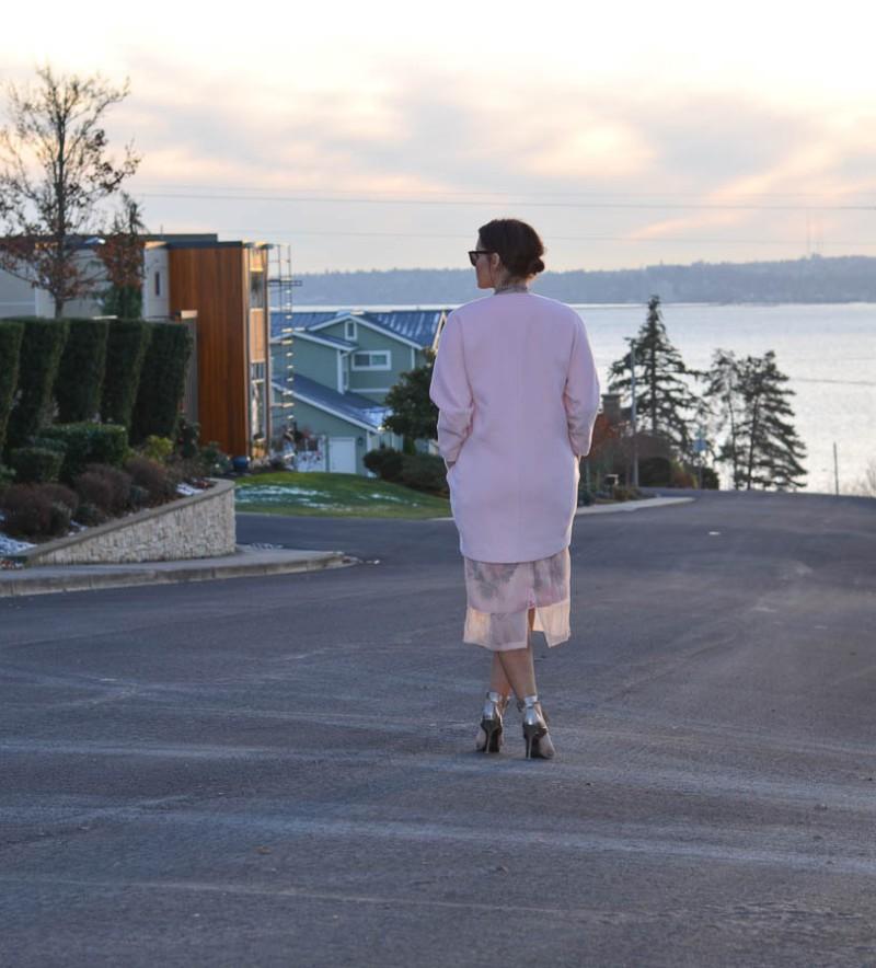 ASOS SALON Midi Skirt in Floral Organza-4