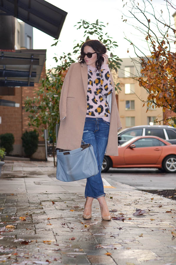Forever21 Fuzzy Pink leopard Sweater-4