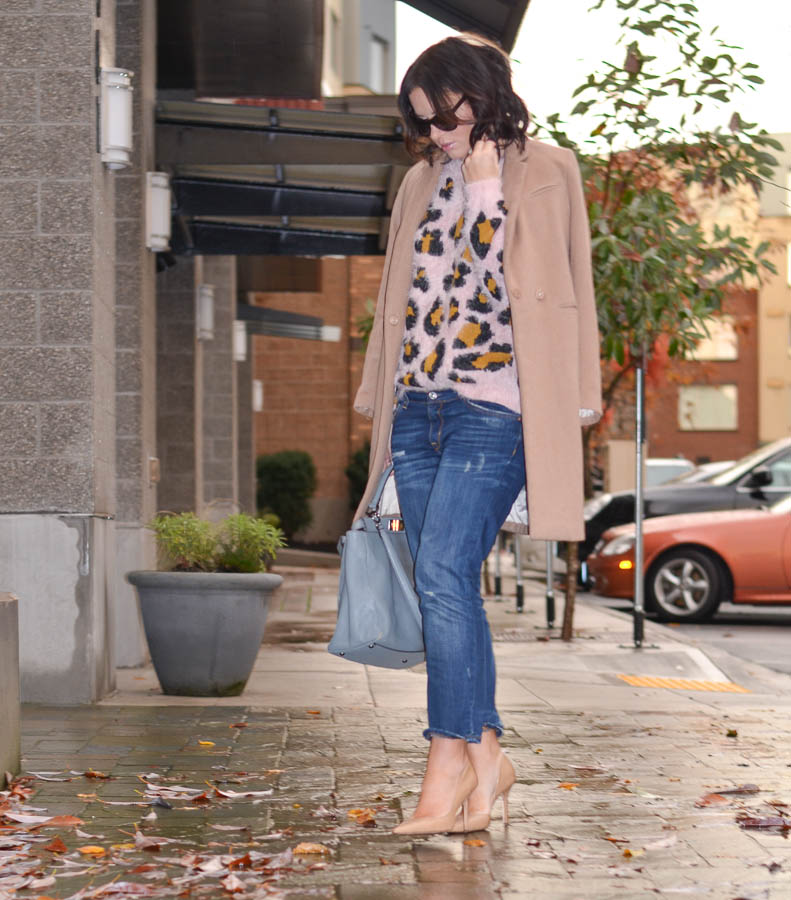 Forever21 Fuzzy Pink leopard Sweater-5