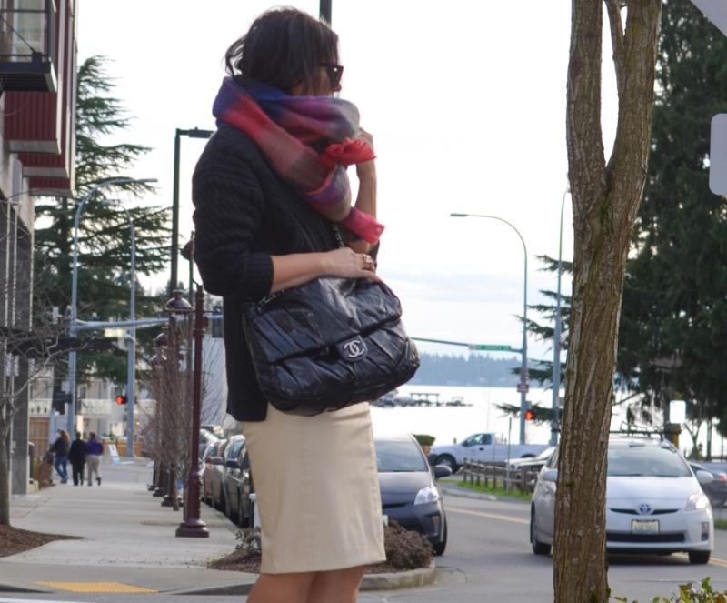 Blaque Label Faux Leather Pencil Skirt-14