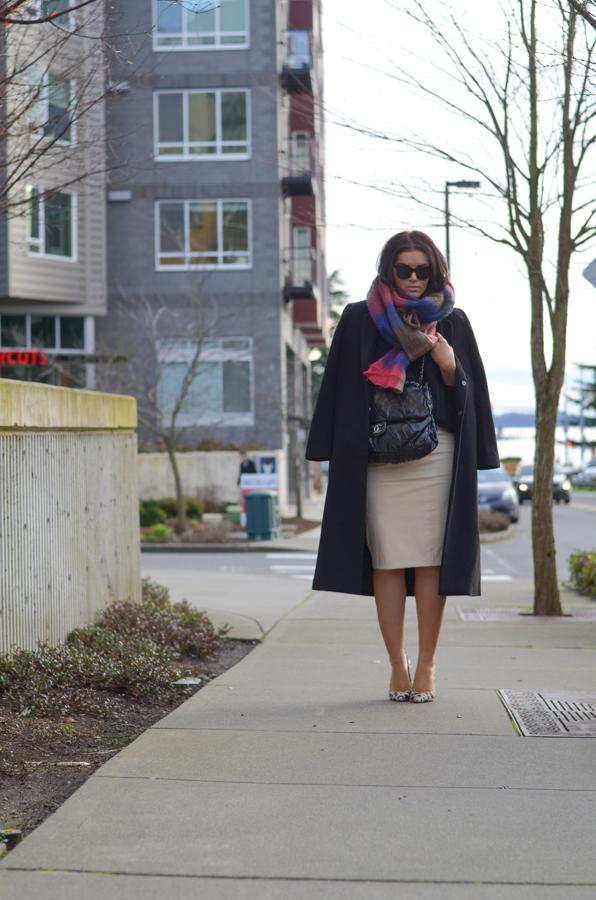 Blaque Label Faux Leather Pencil Skirt-2