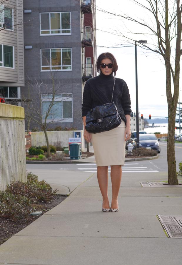 Blaque Label Faux Leather Pencil Skirt-6
