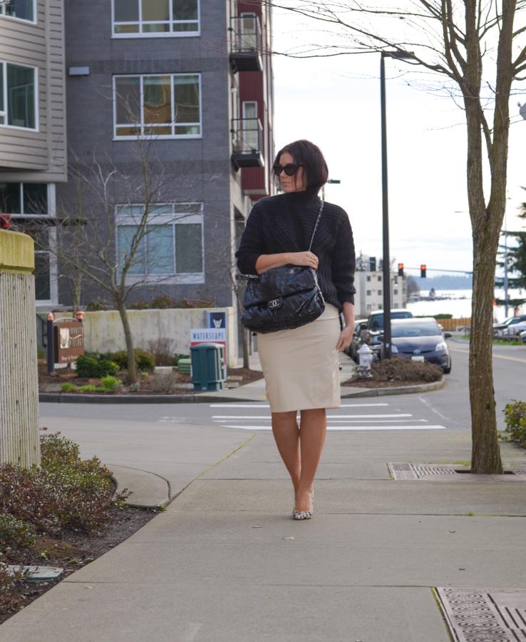 Blaque Label Faux Leather Pencil Skirt-7