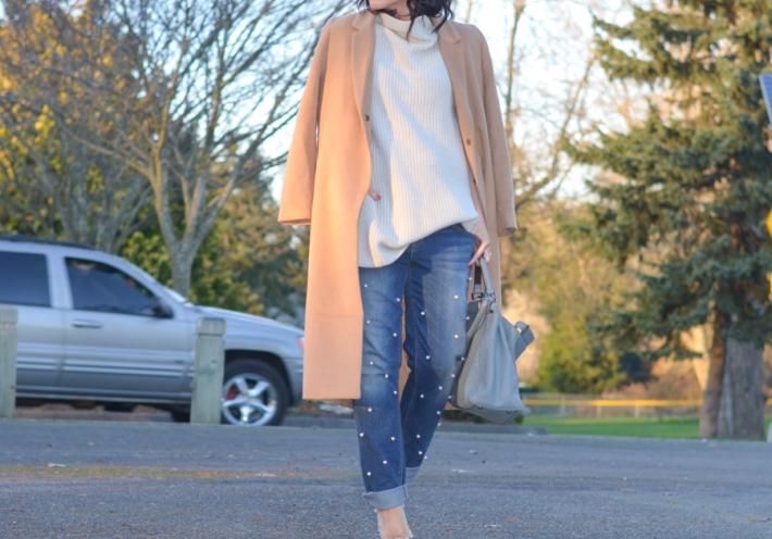 DIY Pearl Embellished Jeans-10