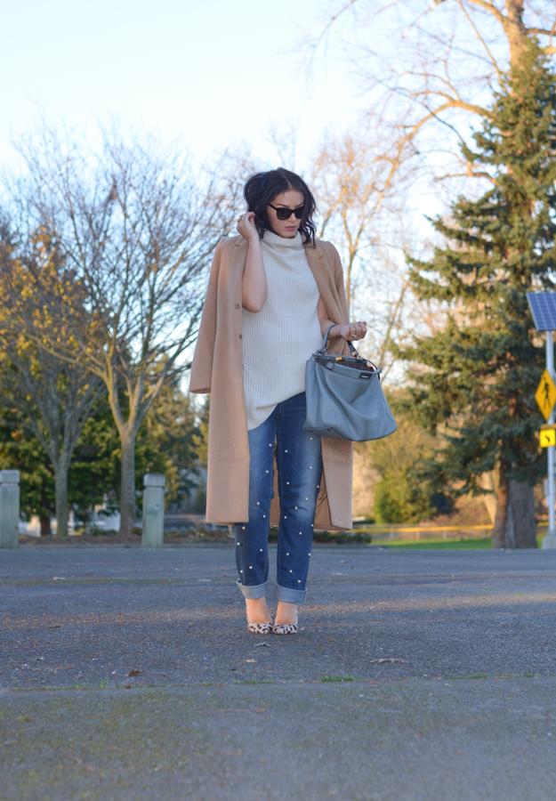 DIY Pearl Embellished Jeans-4