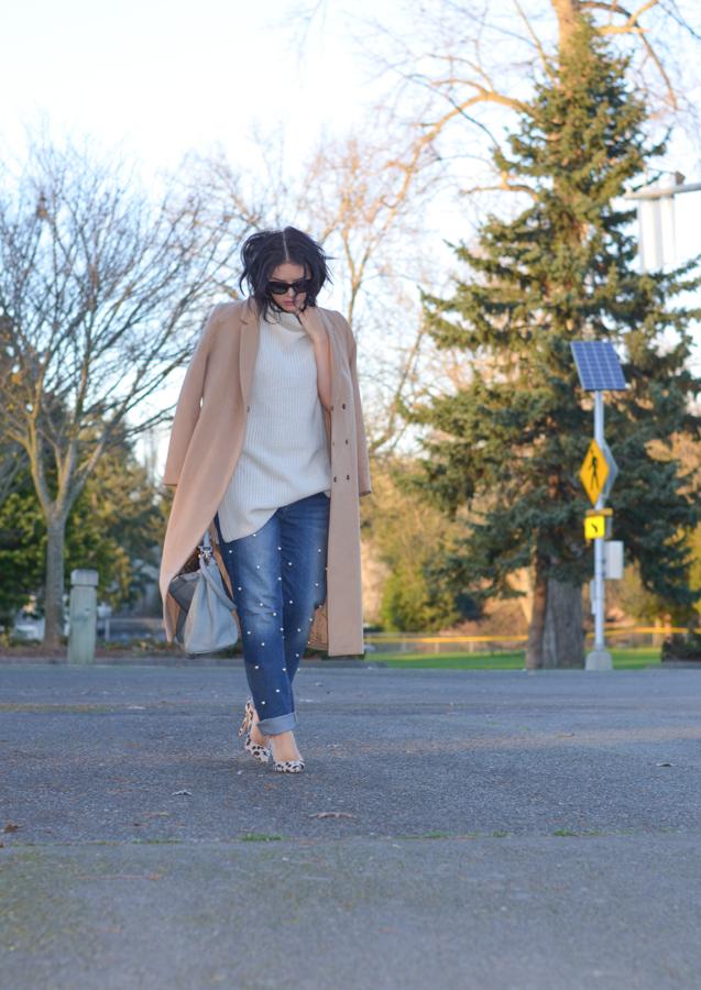 DIY Pearl Embellished Jeans-8