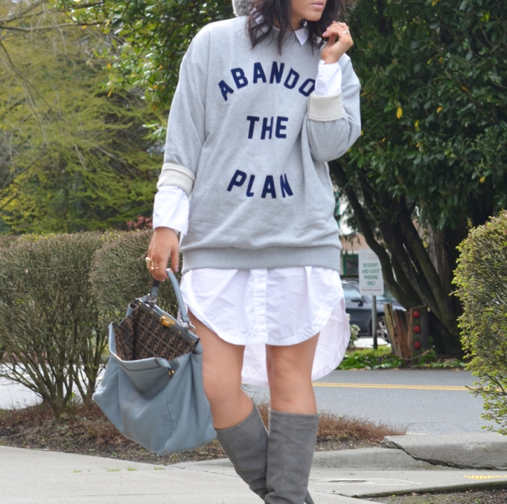 ASOS Abandon the Plan Sweatshirt-2