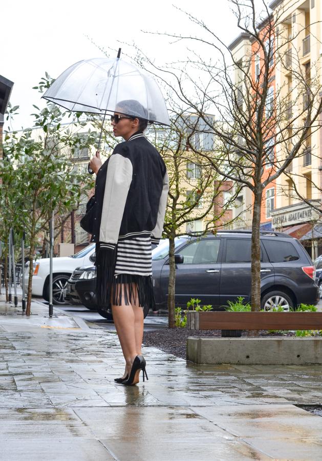 BCBG Rachelle Leather Fringe Skirt-6