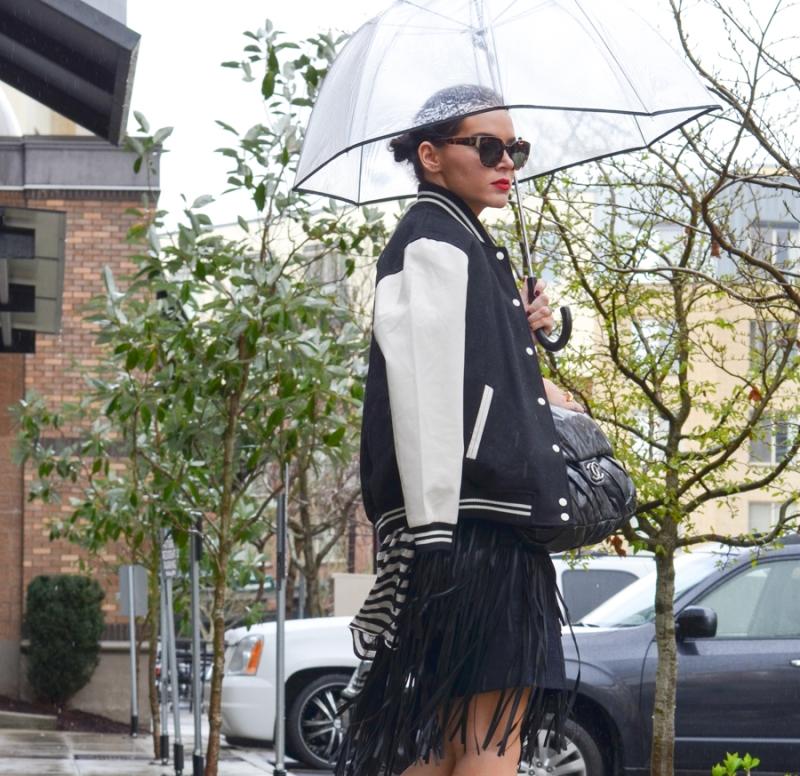 BCBG Rachelle Leather Fringe Skirt-8