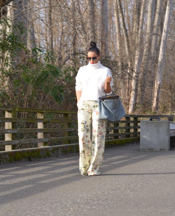 Zara Floral Wide Leg Trouser-11