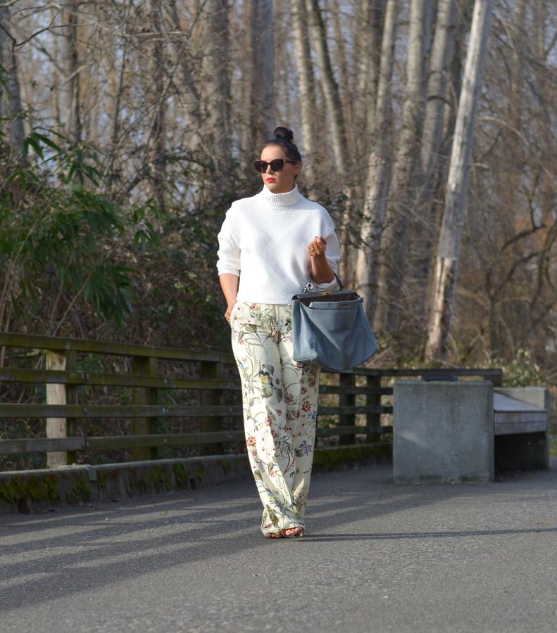 Zara Floral Wide Leg Trouser-12