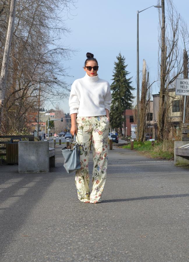 Zara Floral Wide Leg Trouser-14