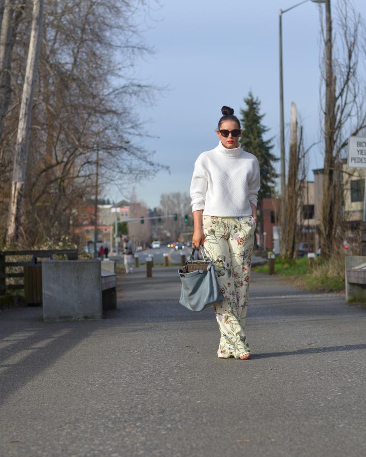 Zara Floral Wide Leg Trouser-6
