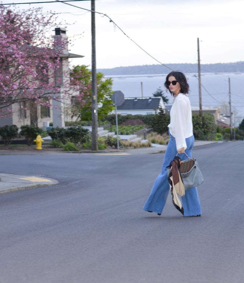Zara Wide Leg High Waisted Trouser Jean-1