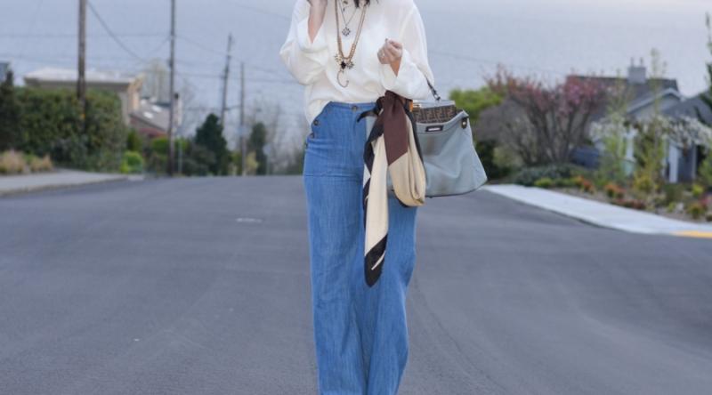 Zara Wide Leg High Waisted Trouser Jean-10