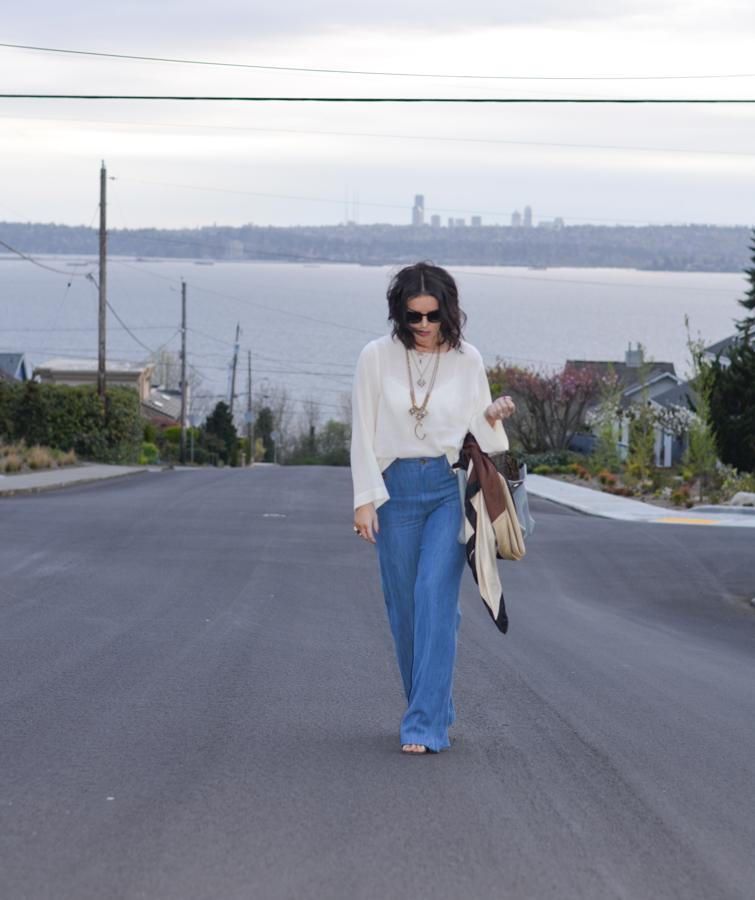 Zara Wide Leg High Waisted Trouser Jean-4