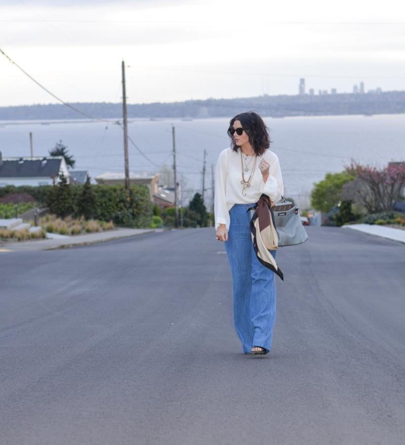 Zara Wide Leg High Waisted Trouser Jean-5
