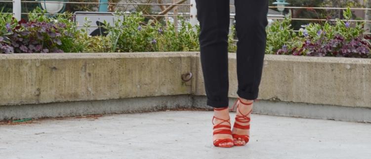 Mode Collective Multi Strap Sandal Red-8