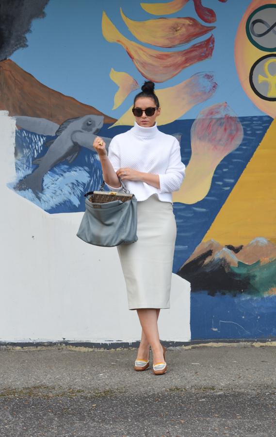 Zara Faux Leather Pencil Skirt-1