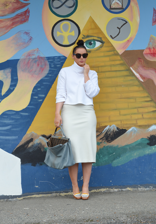 Zara Faux Leather Pencil Skirt-12