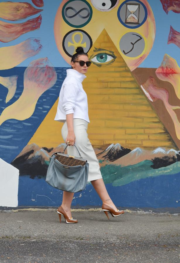 Zara Faux Leather Pencil Skirt-2