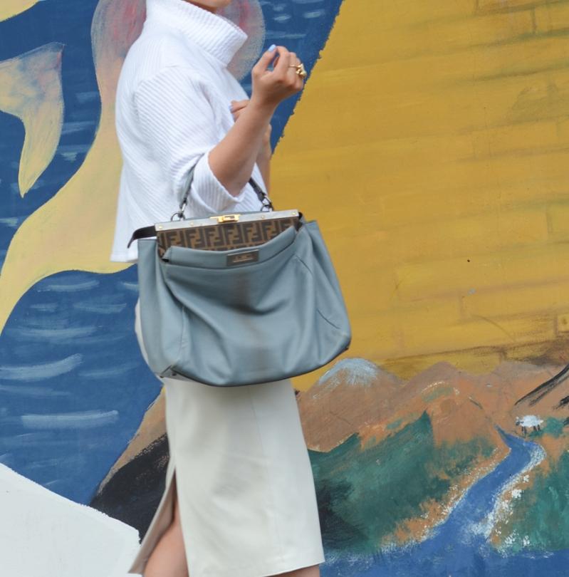 Zara Faux Leather Pencil Skirt-6