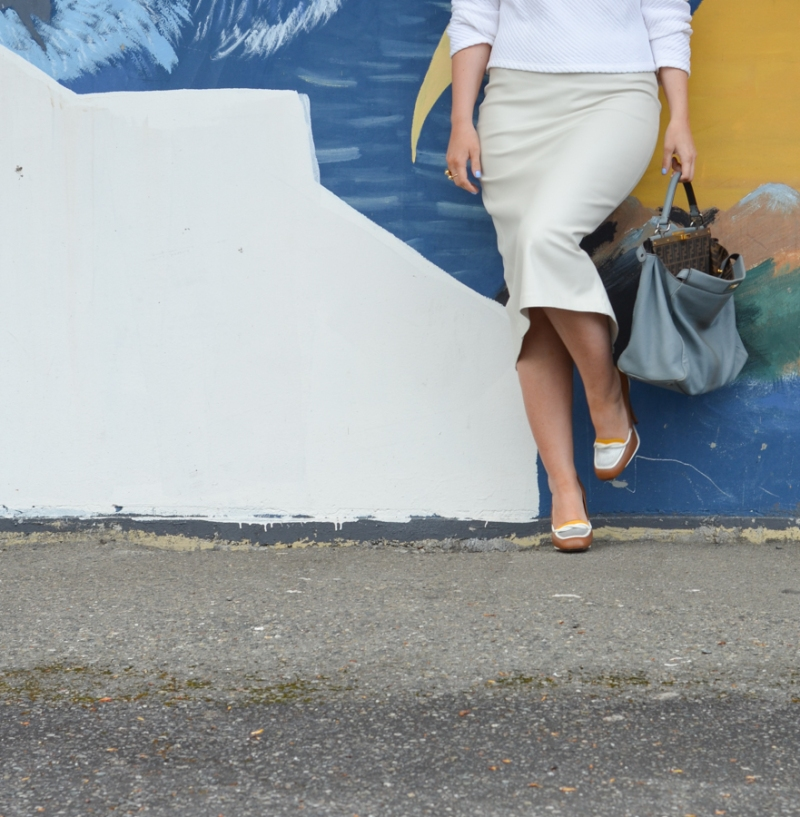 Zara Faux Leather Pencil Skirt-9