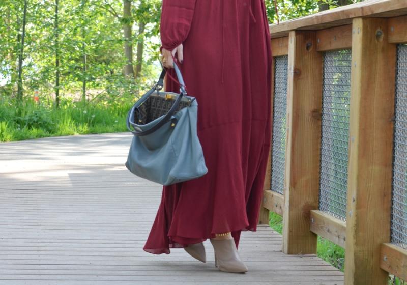 Zara Studio Campaign Long Maxi Dress Red-12