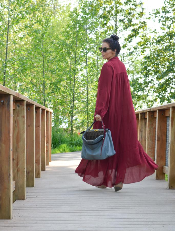 Zara Studio Campaign Long Maxi Dress Red-4