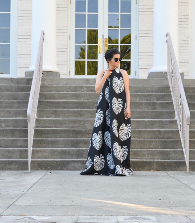 Solace London Gloria Maxi In Palm-7
