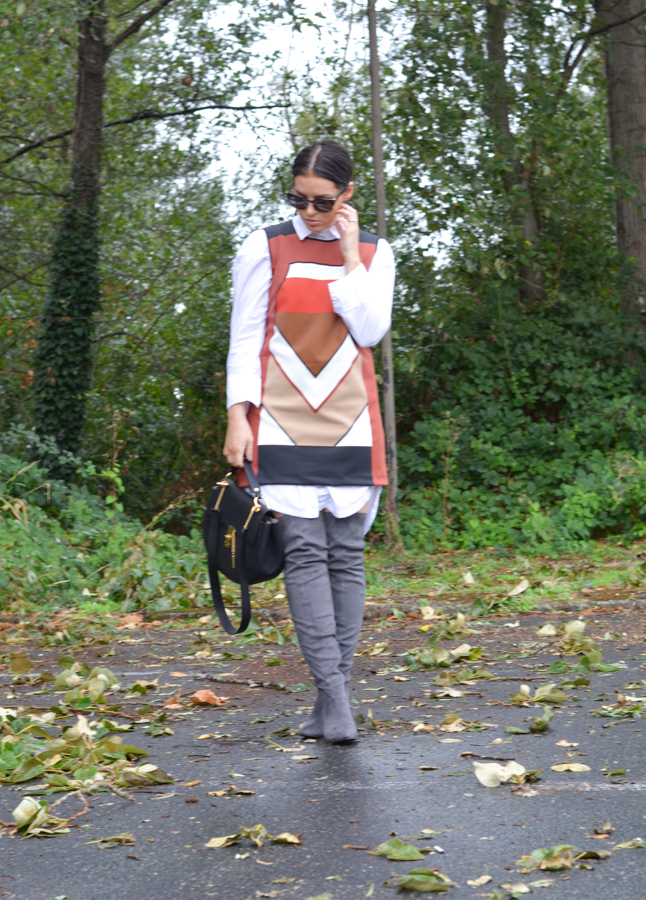 Gray Suede Thigh High Boots
